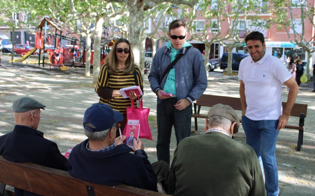 Ávila, Progreso y Democracia UPYD recorre la Toledana y el centro de la ciudad para explicar su propuesta